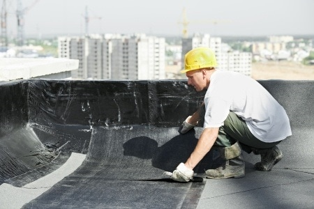 Richmond hill flat roof repair with mod-bit material