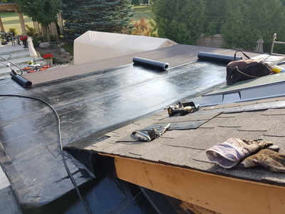 Residential Flat Roofing in Mississauga oNT.