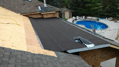 A small flat roof repair in Toronto